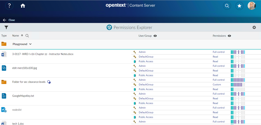 Inside the Permissions Explorer