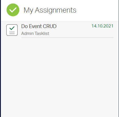 The MyAssignments Widget