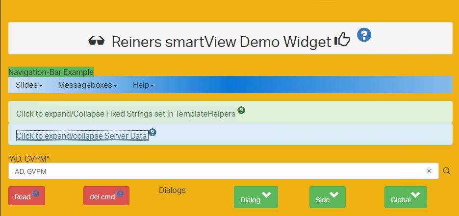 Demo Widget for Learning By Doing workshop