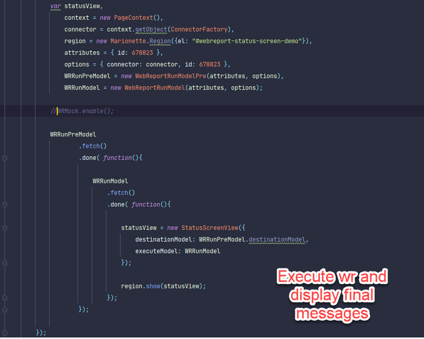 A smartUI goodie for webreport fans in JS: status.screen