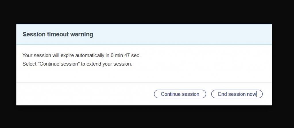 Session Timeout Warning