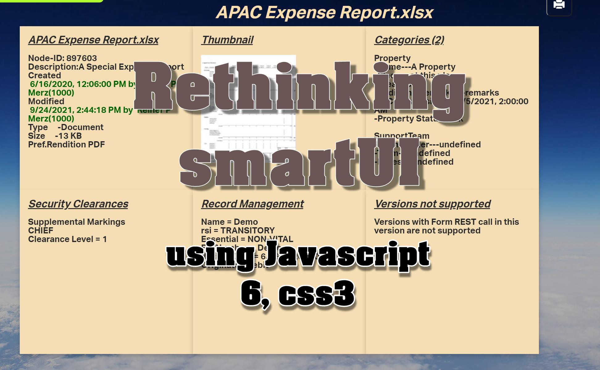 Rethinking smartUI