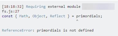 Primordials not defined